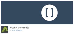 Wordpress Arconix Plugin